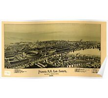 Panoramic Maps Penn'a RR car shop's Altoona Pennsylvania 1895 Poster