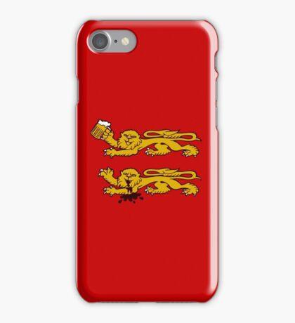 normandie lion normand drunk beer iPhone Case/Skin