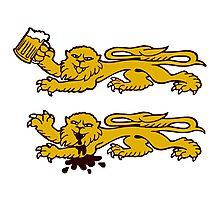 normandie lion normand drunk beer Photographic Print