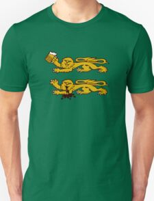 normandie lion normand drunk beer T-Shirt