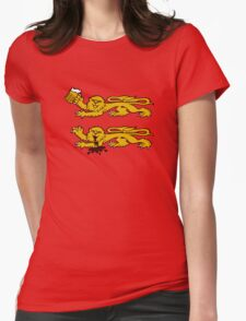 normandie lion normand drunk beer Womens Fitted T-Shirt
