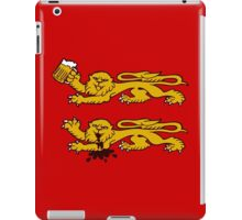 normandie lion normand drunk beer iPad Case/Skin