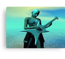 Sad Guitar Canvas Print