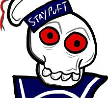 STAY PUFT SKULL by kingporteous