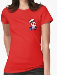 STAY PUFT SKULL Womens Fitted T-Shirt