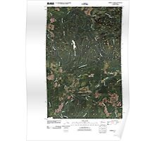 USGS Topo Map Washington State WA Umbrella Creek 20110418 TM Poster