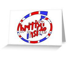 British Inside Greeting Card
