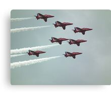 Red Arrows White Smoke Canvas Print