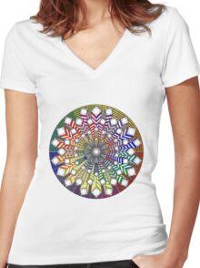 Mandala 38 T-Shirts & Hoodies Women's Fitted V-Neck T-Shirt