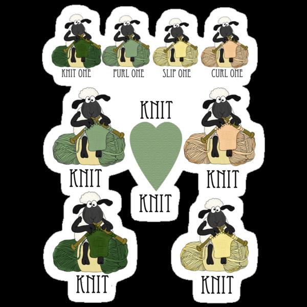 Knit Knit Knit, Knitting fan TShirt by Moonlake