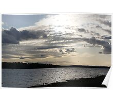 Early Evening Lakeside Landscape  Poster