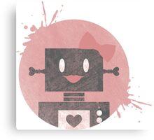 Lady Robot Canvas Print