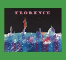 Florence Italy Skyline With Mauve Banner One Piece - Short Sleeve