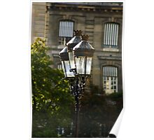 IronWrought Lamp Posts  Poster