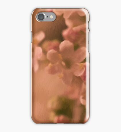Valarian Blossoms Macro - Digital Oil Painting iPhone Case/Skin