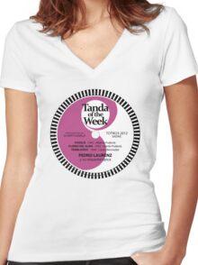 TOTW23/2012 - Laurenz - valses - TK - Purple Women's Fitted V-Neck T-Shirt