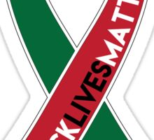 Black Lives Matter Awareness Ribbon Sticker