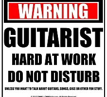 Warning Guitarist Hard At Work Do Not Disturb by cmmei