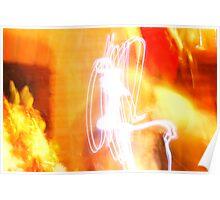 Flaming Abstract I Poster