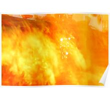 Flaming Abstract II Poster