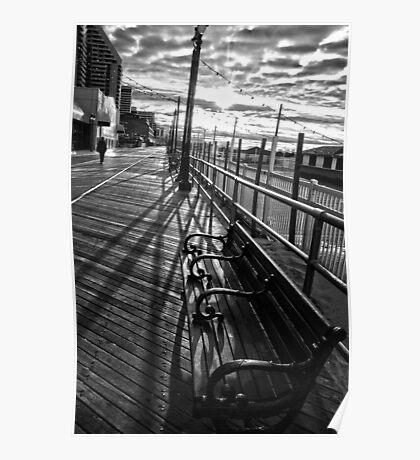 Boardwalk in Atlantic City Poster