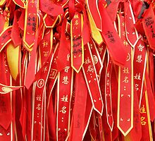 Lots of little... prayer ribbons? by Marjolein Katsma