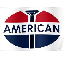 American Gas Station sign. Flat and clean version Poster