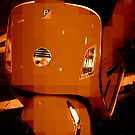 Orange Vespa - Pixels by Amanda Vontobel Photography