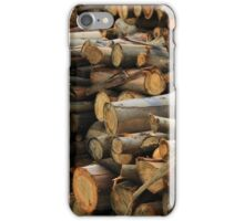 Pile of Firewood iPhone Case/Skin