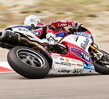 Carlos Checa at Miller Motorsports park 2012 by corsefoto