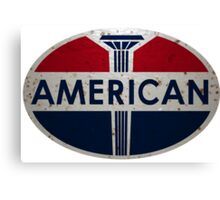 American Gas Station sign. Rusted version Canvas Print