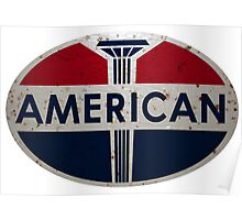 American Gas Station sign. Rusted version Poster