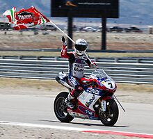 Carlos Checa at Miller Motorsports park 2012 by corsefoto
