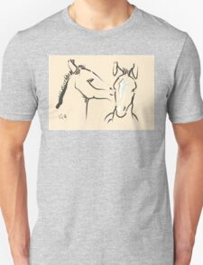 Pillow horse together 6 Unisex T-Shirt