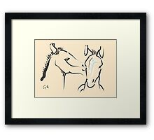 Pillow horse together 6 Framed Print