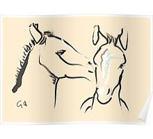 Pillow horse together 6 Poster