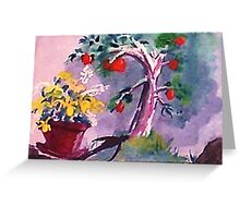 The O; apple tree, watercolor Greeting Card