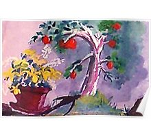 The O; apple tree, watercolor Poster