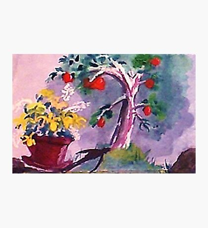 The O; apple tree, watercolor Photographic Print