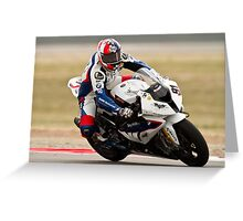 LEON HASLAM at Miller Motorsports park 2012 Greeting Card