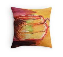 The Brass pot. watercolor Throw Pillow