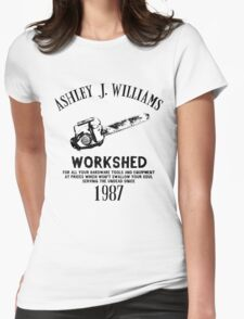 Ash vs Evil Dead - Ash's Chainsaw Womens Fitted T-Shirt