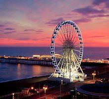 Brighton Nightscape IV by Erika  Szostak
