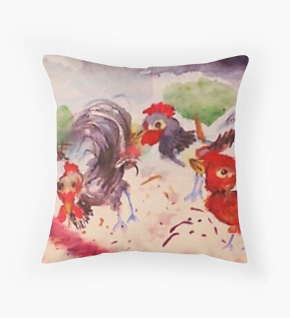 I will follow your rules, Boss, watercolor Throw Pillow