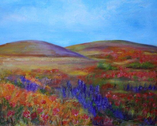 California Hills-Acrylic Painting by Esperanza Gallego