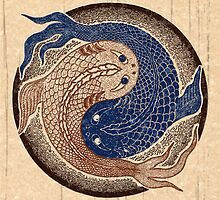 yin yang fish, shuiwudao mandala by peter barreda