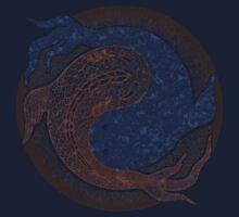 yin yang fish, shuiwudao mandala Kids Clothes