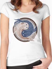 yin yang fish, shuiwudao mandala Women's Fitted Scoop T-Shirt