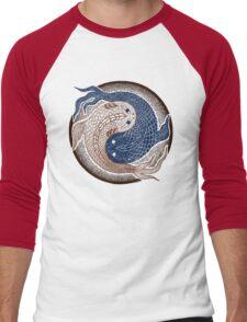 yin yang fish, shuiwudao mandala Men's Baseball ¾ T-Shirt
