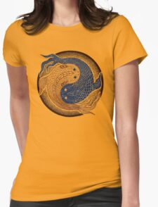 yin yang fish, shuiwudao mandala Womens Fitted T-Shirt